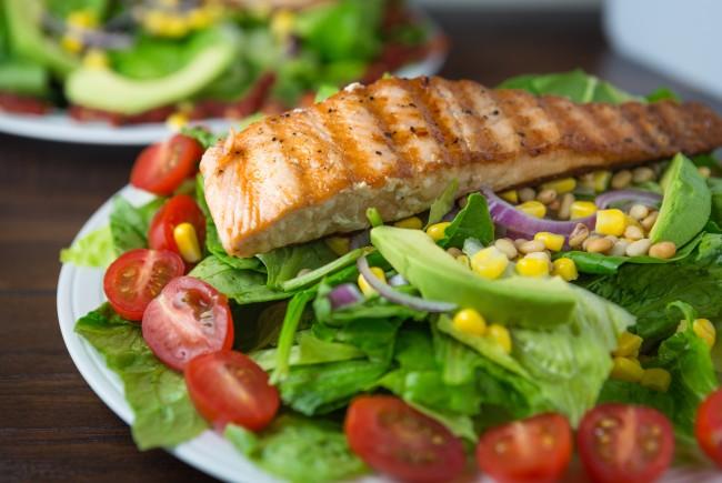 Pan Seared Salmon Salad